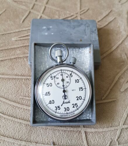 """Soviet mechanical stopwatch """"Agat"""" of the USSR #3"""