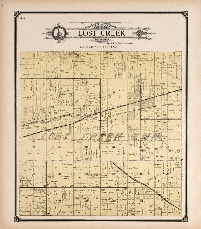 1907 Atlas VIGO COUNTY INDIANA family GENEALOGY plat map LAND OWNER DVD P125
