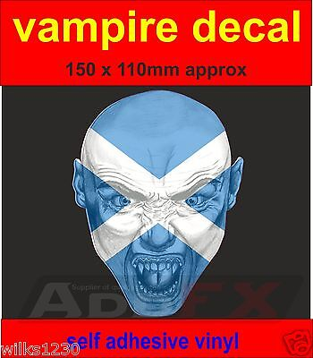1 vampire Scottish Scotland flag sticker door laptop car van dub halloween decal](Halloween Dub)
