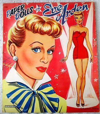 Original Eve Arden uncut paper dolls and outfits-excellent/near mint-1950's