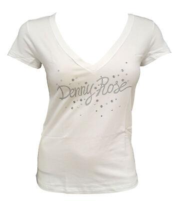 19,99 € per T-shirt Maglia Maniche Corte V Neck Scollo A V Denny Rose Donna Woman Bianco Whi su eBay.it