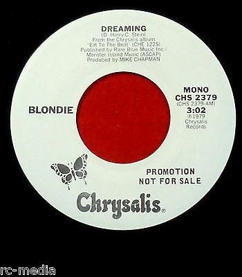 "BLONDIE - Dreaming - Rare USA Mono/Stereo White label Promo 7"""