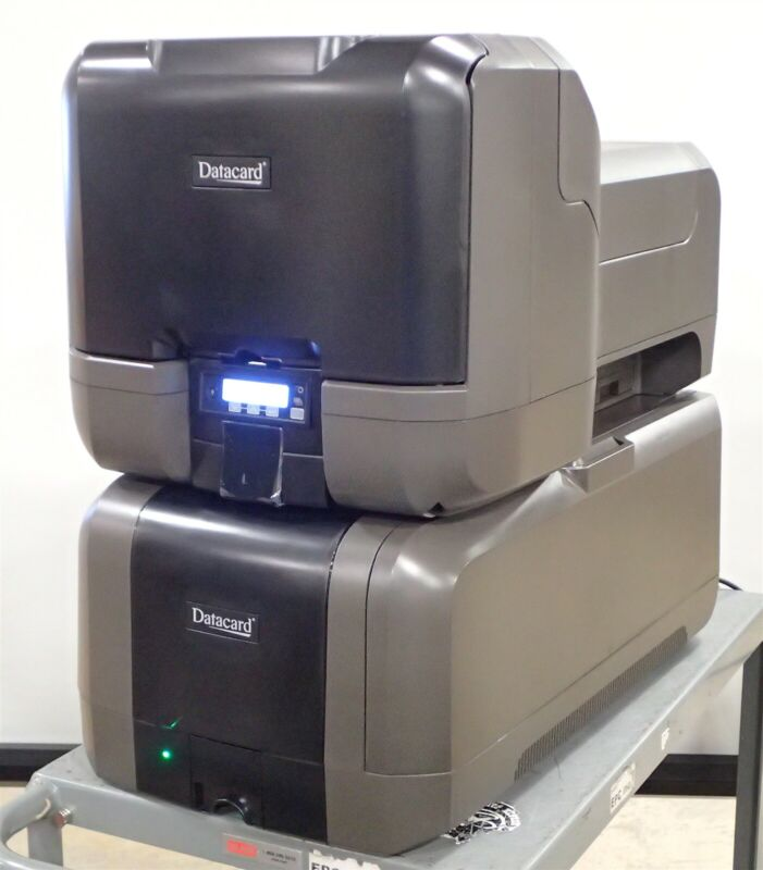 New DataCard CE870 PX30 Issuance System Credit Card Printer & EX30 Embosser