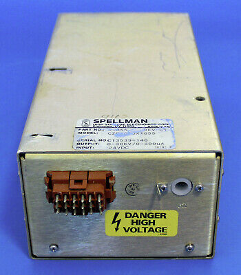 Spellman High Voltage 0-30kv 0-300ua 24vdc Power Supply
