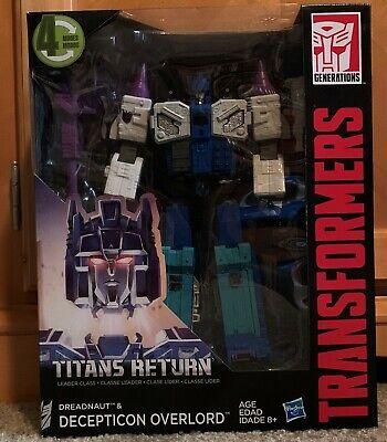 Transformers Titans Return Leader Class Dreadnaut & Decepticon Overlord
