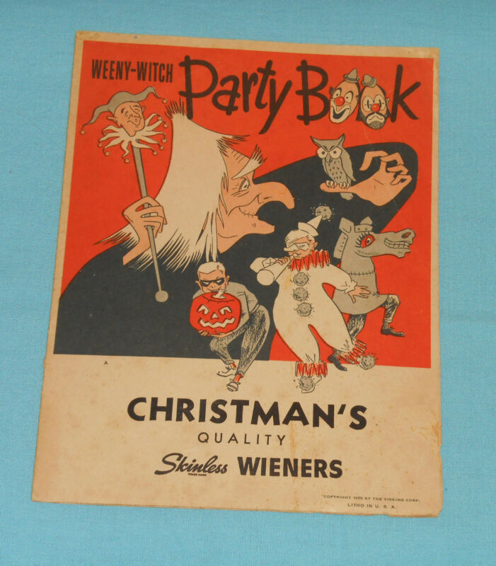 vintage Halloween WEENY-WITCH PARTY BOOK Christman