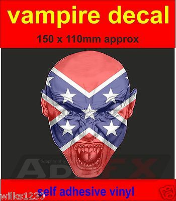 1x vampire USA flag decal sticker door laptop car van dub halloween](Halloween Dub)