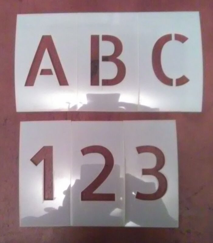1 inch Allerta Uppercase Alphabet And Numbers Set Stencil