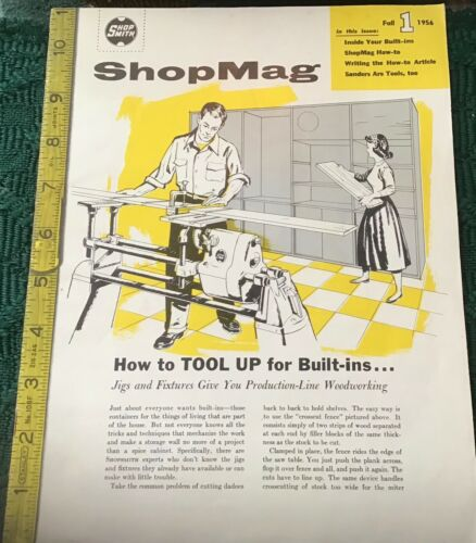 SHOPSMITH SHOPMAG MAGAZINE FALL  1 - 1956 collectible