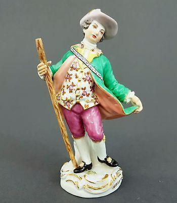 Meissen Figur, Gärtnerkind mit Stab, Modell-Nr. 60338, 1.Wahl