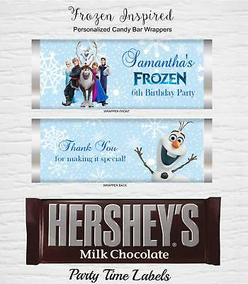 Frozen Birthday Party Favors Candy Bar Wrappers SET of 12 - Frozen Candy Bar
