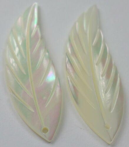 16 Pcs Vintage Mother of Pearl Hand Carved Angel Wings Pendants Drop Earrings
