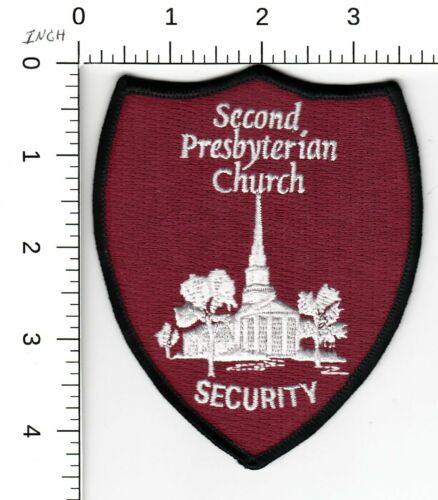 SECOND PRESBYTERIAN CHURCH SECURITY MEMPHIS TENNESSEE POLICE PATCH TN