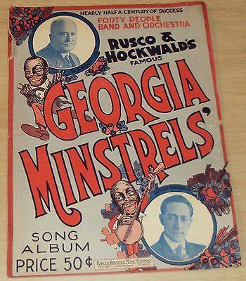 "1921 Black Americana SONG Album/TRICK/Joke/MAGIC Catalog~""GEORGIA MINSTRELS""~"