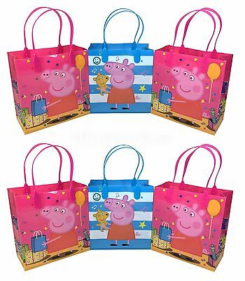 Peppa Pig Birthday (NEW 12x Peppa Pig Birthday Party Supplies Goody Loot Gift Candy Bags)