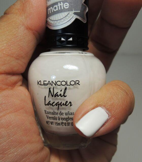 1pc KleanColor Matte White Color Nail Polish Lacquer - #254 Winter ...
