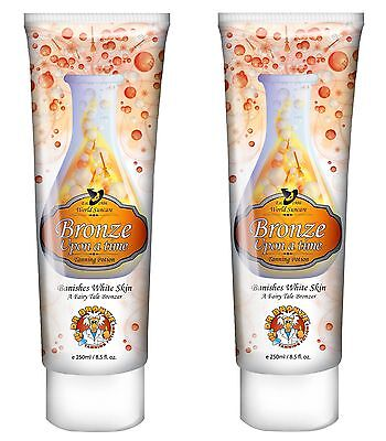 BARGAIN 2x Pro Tan Dr Bronze Upon A Time Dark Tanning Sunbed Accelerator Lotion