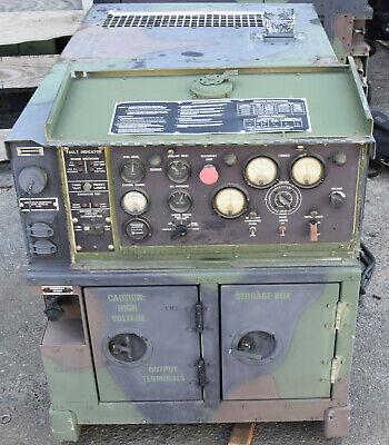 Military Mep-802a 5kw Portable Skid Diesel Generator 60hz Single 3-phase Power