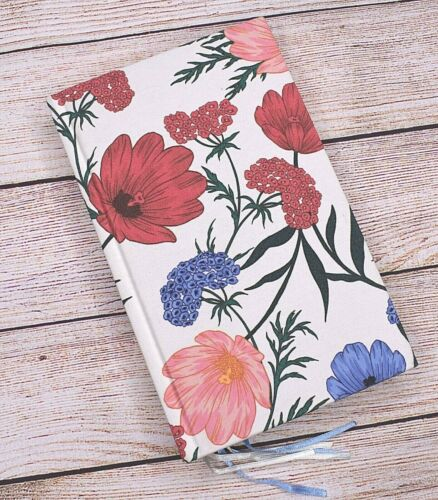 NEW Kate Spade Notebook Fabric Flowers Red Blue Pink Green
