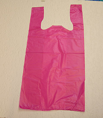 Plastic T-Shirt Bags with Handles You Pick Lot & Colors & Size - Plastic Bags With Handles