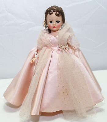 1950's CISSETTE IN PINK GOWN - BEAUTIFUL BRUNETTE - HIGH FACE COLOR
