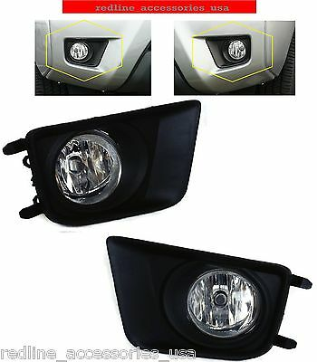 REPLACEMENT FOG LIGHT SET FOR FITS 2012 13 14 15 TOYOTA TACOMA BEZELS WIDE ANGLE