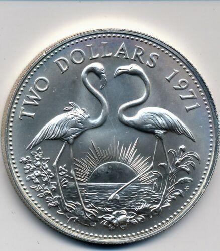 1971 BAHAMA ISLANDS BU SILVER $2 COIN