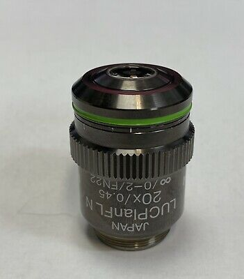Olympus Lucplanfl N 20x Uis-2 Fluorite Microscope Objective Luc Plan Fl