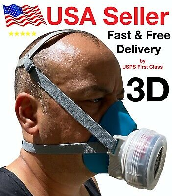Safety Gas Mask Respirator Half Face Protect Painting Spraying Facepiece Outdoor