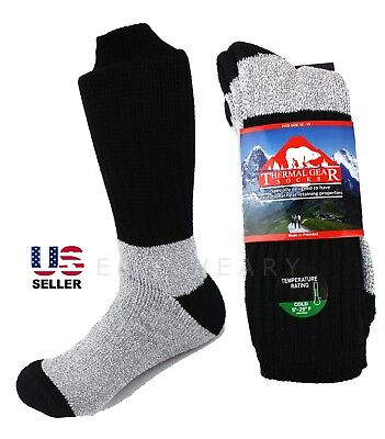 Thermal Snow - Mens Winter Thermal Thick Warm Hiking Huntin Snow Ski Crew Boot Work Socks 10-15