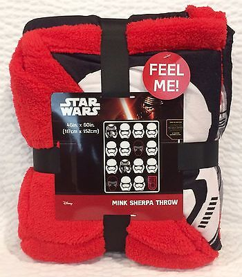 Star Wars Force Awakening Stormtrooper Plush Fleece Throw Blanket 46