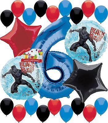 Black Panther Party Supplies Birthday Balloon Decorations Decor Bundle (6th B... - Black Party Decor