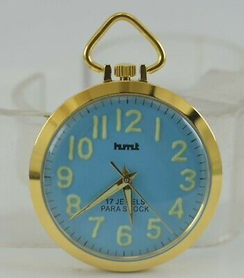 Vintage HMT Pocket Lume Fig 17J Winding Watch For Unisex Use Working Good D-6-12