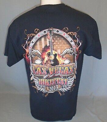 Las Vegas 2013 Motorcycle Bikefest Bike Fest Week Rally T-Shirt Size Large