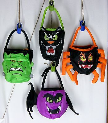 HALLOWEEN Trick or Treat Bags Candy Bags Totes Party Gifts Scary Spooky U Choose