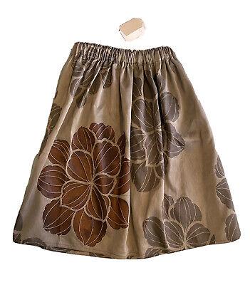 NWT $114 La Bottega Di Giorgia 12 Mary Skirt Midi Holiday Christmas Gray Copper