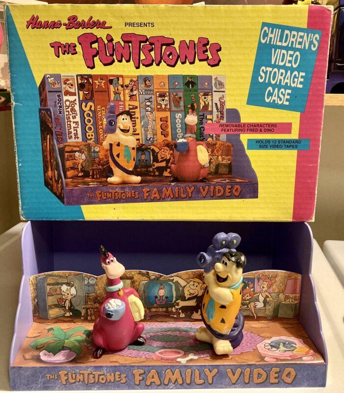 FLINTSTONES (VHS Video Storage Case) Fred & Dino Figures