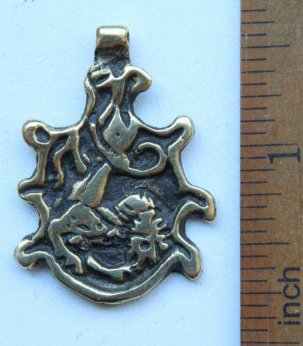 Ancient Solid Bronze Pendant