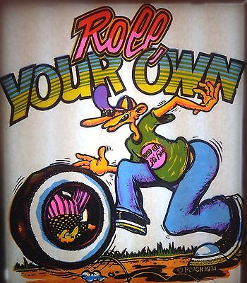 """Vintage 1974 RoAcH """"Roll Your Own"""" Iron-On Transfer  RARE!"""