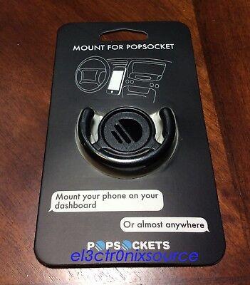 NEW PopSockets Dash Holder Mount Stands for PopSockets PopClip 201000 (Black)