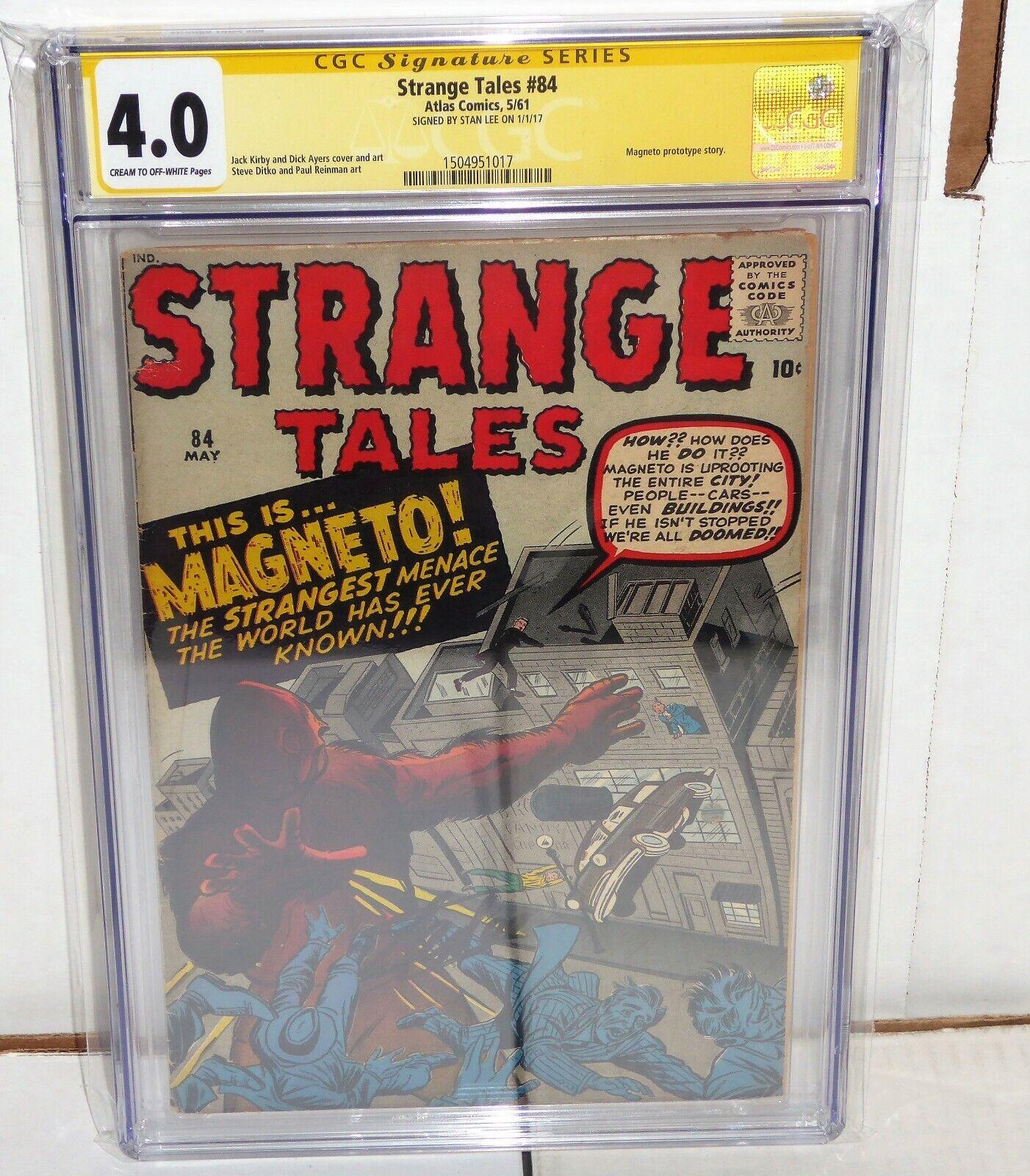 Strange Tales #84 CGC SS Signature Autograph STAN LEE Magento Prototype Story