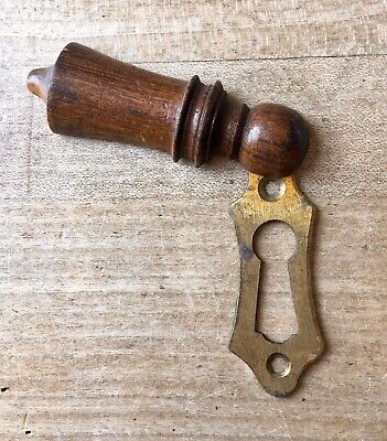 Vintage Escutcheon Keyhole Wooden Antique Door Hardware Victorian Old Salvage