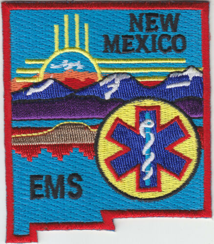 New Mexico EMS shoulder patch NM state shaped emergency medical services