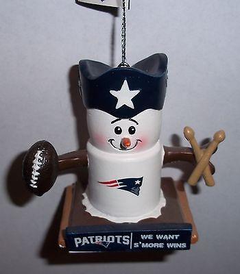 New England Patriots Theme Smore Christmas Tree Ornament