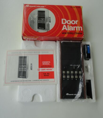 Vtg New Old Stock Box Safe House Radio Shack Door Alarm Chime 49-422 Battery 9V