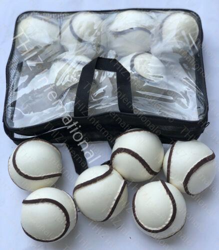 Hurling All Weather Wall Balls Sliotars White Color GAA Size 5 (12 sliotar)