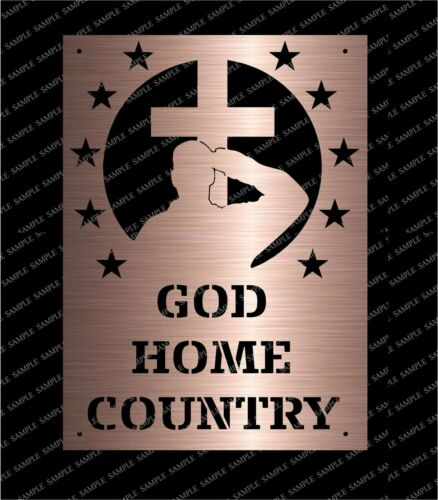 DXF CNC Plasma Laser Cut Ready Vector God Country Home USA Motto Patriot