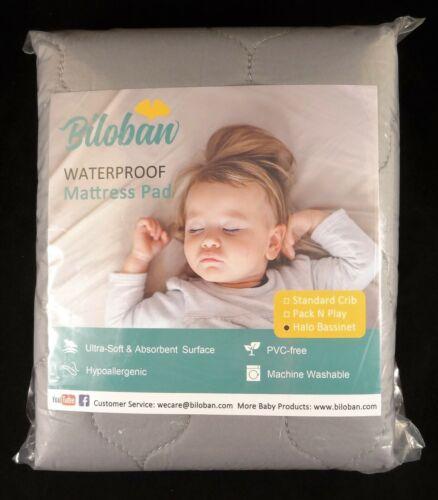 Biloban 2 Pack Of Waterproof Mattress Pads For Halo Bassinest Swivel Sleeper New