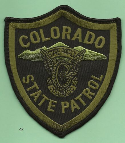 COLORADO STATE PATROL POLICE SHOULDER PATCH   Subdued green