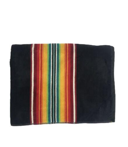 PENDLETON Spa Bath Beach Towel Serape Stripe Black Rainbow 4